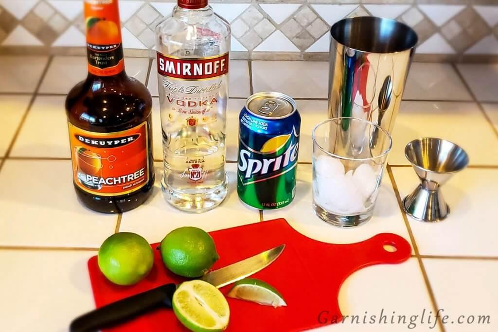 Peach Vodka Soda Prep