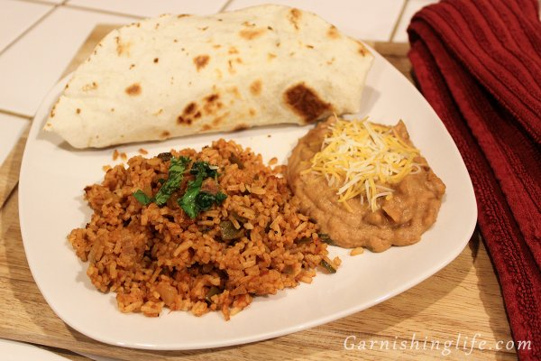 Zesty Spanish Rice & Refried Beans