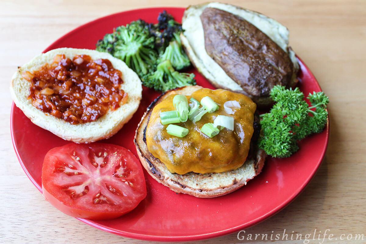 Steakhouse Burger And Bacon Sauce Garnishing Life