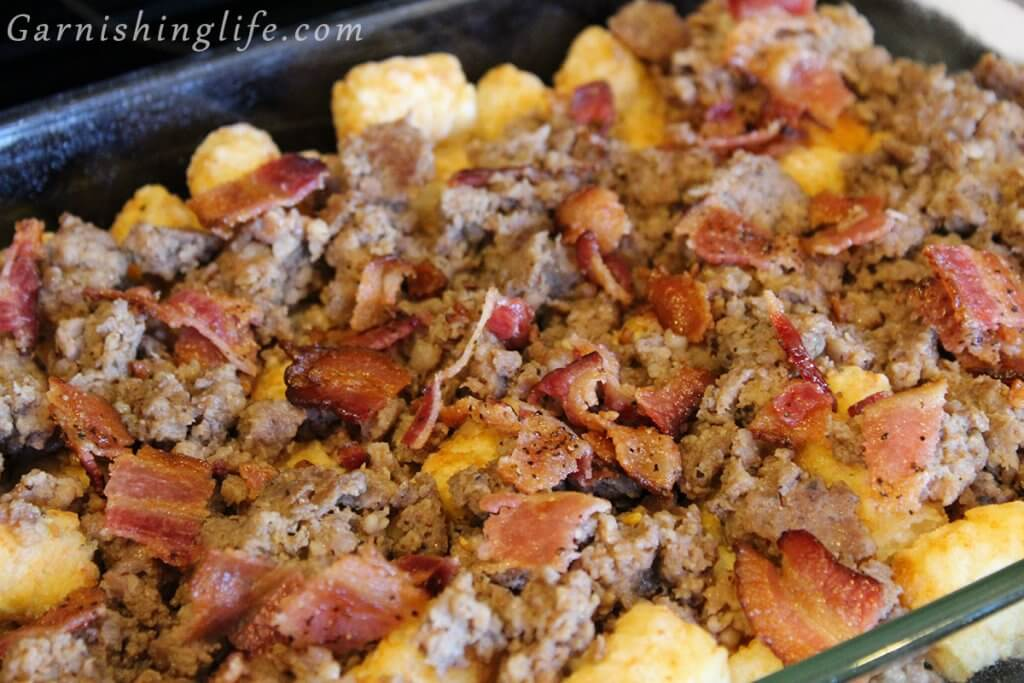 Sausage and Bacon Breakfast Casserole