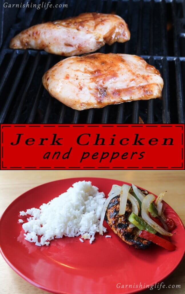Plated Jerk Chicken