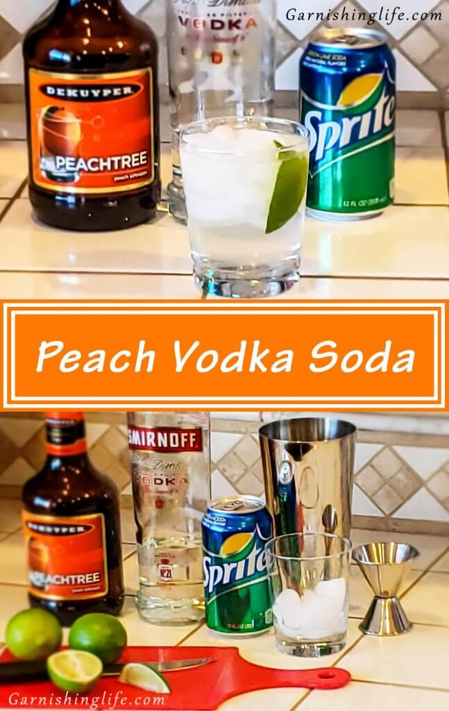 Peach Vodka Soda Pin