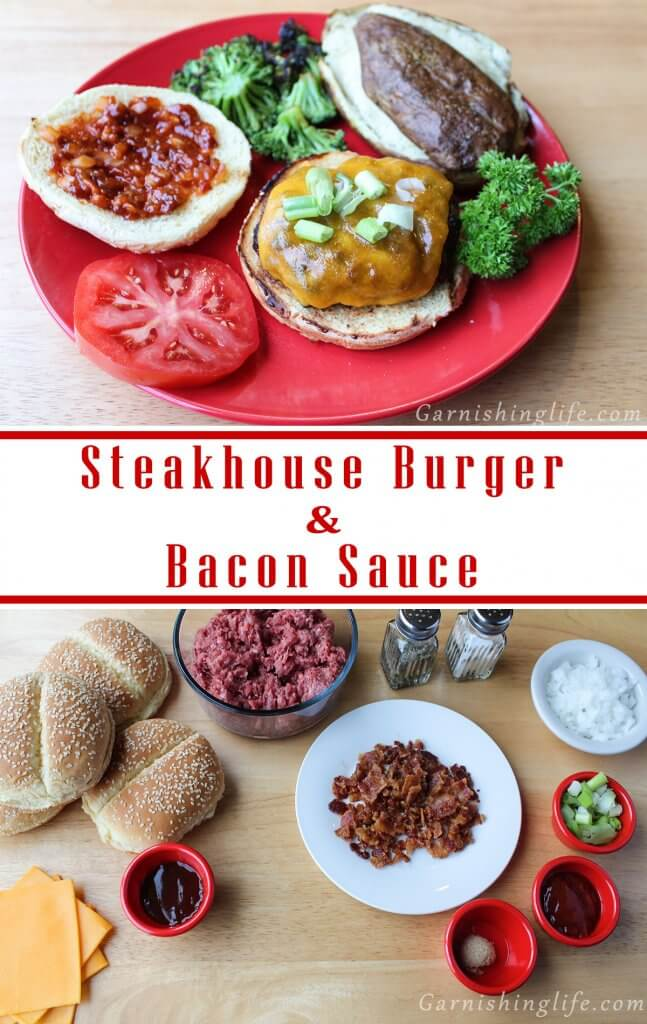 Steakhouse Burger with Bacon Sauce