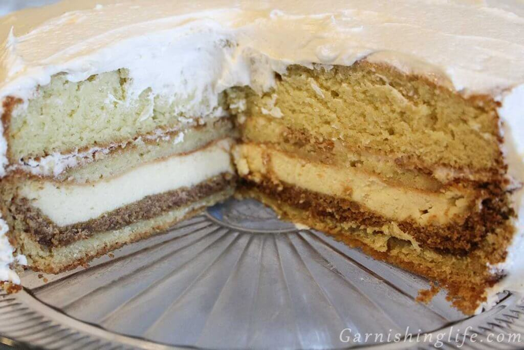 Cheesecake Stuffed Cake