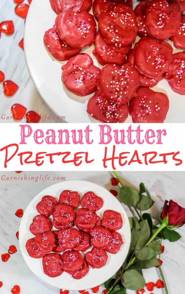 Peanut Butter Pretzel Hearts